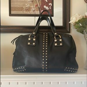 Michael Kors Black studded Handbag .
